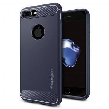 "Obal Spigen ""Rugged Armor"" pro iPhone 8 Plus / iPhone 7 Plus - půlnoční modrá"
