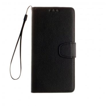 """Elegantní pouzdro """"Litchi"""" pro Samsung Galaxy S8 z umělé kůže - černé"""