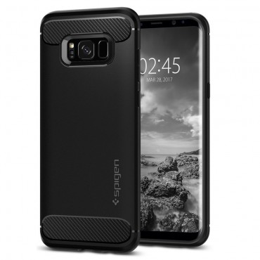 "Kryt Spigen ""Rugged Armor"" pro Samsung Galaxy S8 Plus - black"