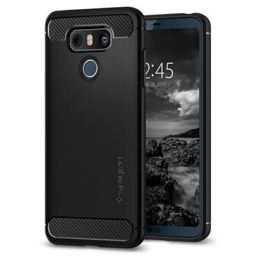 """Kryt Spigen """"Rugged Armor"""" pro LG G6 - black"""