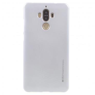 Kryt TPU gel Goospery iJelly Case Huawei Mate 9 - stříbrné barvy