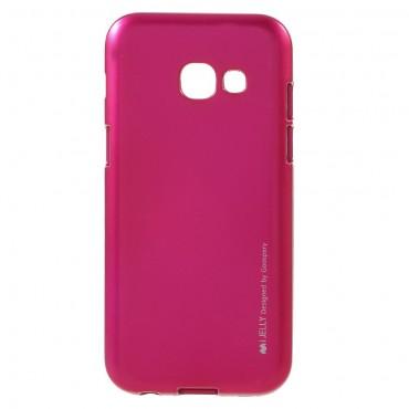 TPU gelový obal Goospery iJelly Case Samsung Galaxy A3 2017 - purpurový