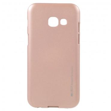 Kryt TPU gel Goospery iJelly Case pro Samsung Galaxy A3 2017 - růžový