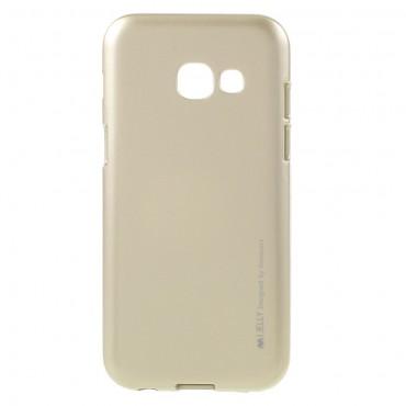 Kryt TPU gel Goospery iJelly Case pro Samsung Galaxy A3 2017 - zlatý