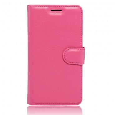 """Elegantní kryt """"Litchi"""" pro LG K10 2017 - růžový"""
