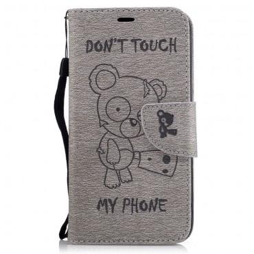 """Moderní pouzdro """"Do Not Touch"""" pro LG K10 2017 - šedý"""