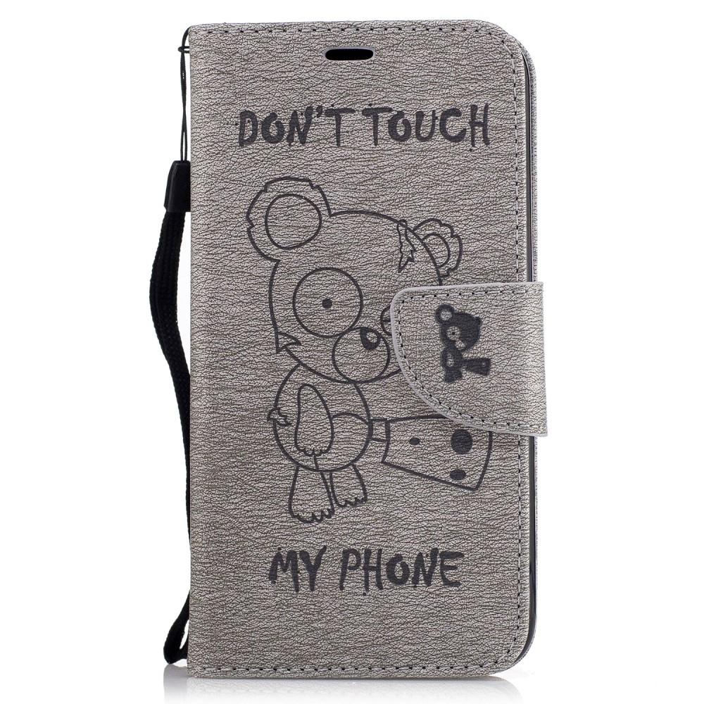 """Módní kryt """"Do Not Touch"""" pro LG K10 2017 - šedý"""
