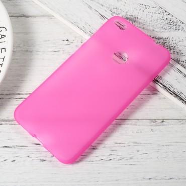 TPU gelový obal pro Huawei Honor 8 Lite / P8 Lite 2017 - růžový