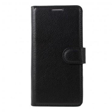 """Elegantní kryt z umělé kůže """"Litchi"""" pro Huawei P10 - černý"""