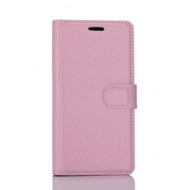 """Elegantní pouzdro """"Litchi"""" pro Huawei P10 z umělé kůže - růžové"""