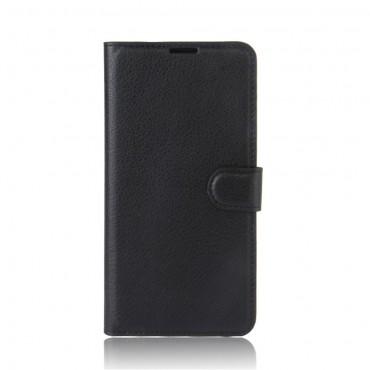 """Elegantní kryt z umělé kůže """"Litchi"""" pro Huawei P10 Lite - černý"""