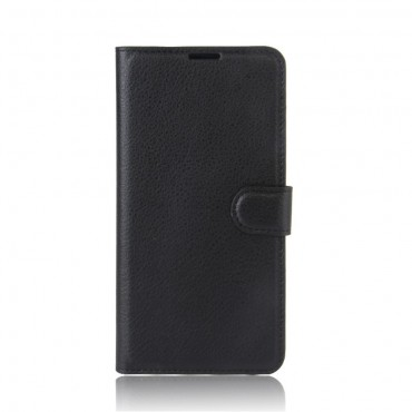 """Elegantní pouzdro """"Litchi"""" pro Huawei P10 Lite z umělé kůže - černé"""