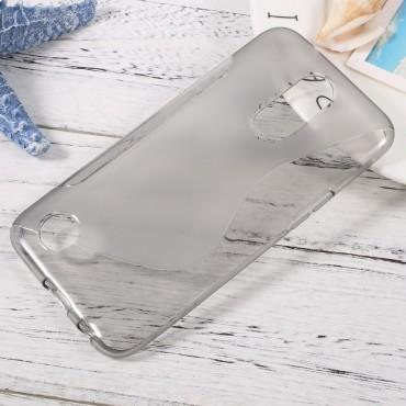 "Kryt TPU gel ""S-Line"" pro LG K10 2017 - šedý"
