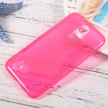 "Kryt TPU gel ""S-Line"" pro LG K10 2017 - růžový"