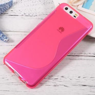 """TPU gelový obal """"S-Line"""" Huawei P10 - růžový"""