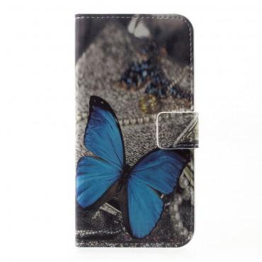 """Módní pouzdro """"Blue Butterfly"""" pro Huawei P10"""