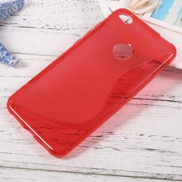 """TPU gelový obal """"S-Line"""" pro Huawei Honor 8 Lite / P8 Lite 2017 - červený"""