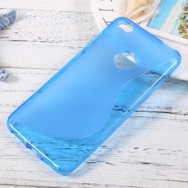 "TPU gelový obal ""S-Line"" pro Huawei Honor 8 Lite / P8 Lite 2017 - modrý"