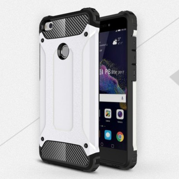 "Robustní obal ""Rock"" pro Huawei Honor 8 Lite / P8 Lite 2017 - bílý"