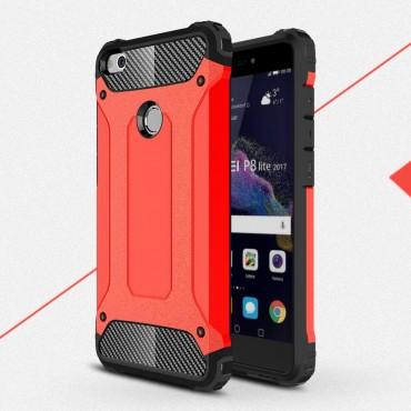 "Robustní obal ""Rock"" pro Huawei Honor 8 Lite / P8 Lite 2017 - červený"