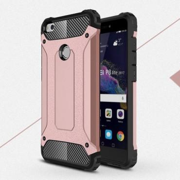 "Robustní kryt ""Rock"" pro Huawei Honor 8 Lite / P8 Lite 2017 / Nova Lite - růžové"