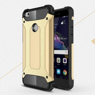 """Robustní obal """"Rock"""" pro Huawei Honor 8 Lite / P8 Lite 2017 - zlaté barvy"""