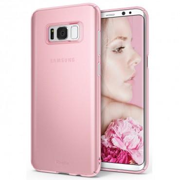 """Obal Ringke """"Slim"""" pro Samsung Galaxy S8 Plus - mrazivě růžový"""