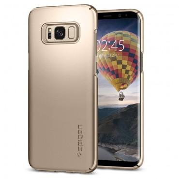 """Kryt Spigen """"Thin Fit"""" pro Samsung Galaxy S8 Plus - gold maple"""