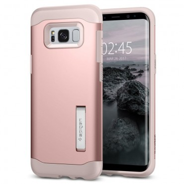 "Obal Spigen ""Slim Armor"" pro Samsung Galaxy S8 Plus - růžově zlatý"