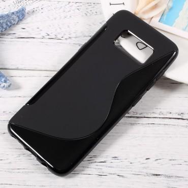 """TPU gelový obal """"S-Line"""" Samsung Galaxy S8 - černý"""