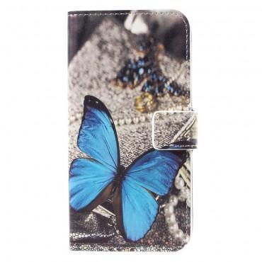 """Módní pouzdro """"Blue Butterfly"""" pro Samsung Galaxy S8"""