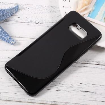 """TPU gelový obal """"S-Line"""" Samsung Galaxy S8 Plus - černý"""