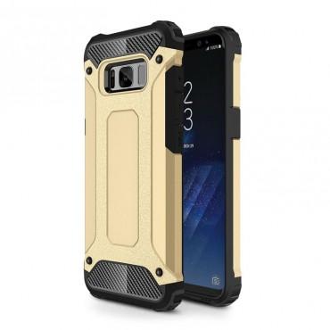 """Robustní obal """"Rock"""" pro Samsung Galaxy S8 Plus - zlaté barvy"""