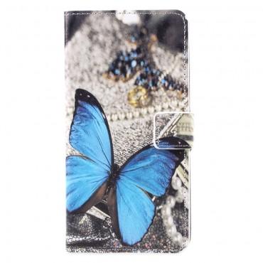 """Módní pouzdro """"Blue Butterfly"""" pro Samsung Galaxy S8 Plus"""