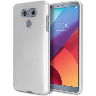 Kryt TPU gel Goospery iJelly Case LG G6 - stříbrné barvy