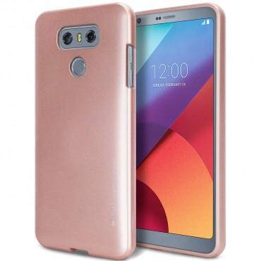 Kryt TPU gel Goospery iJelly Case pro LG G6 - růžový
