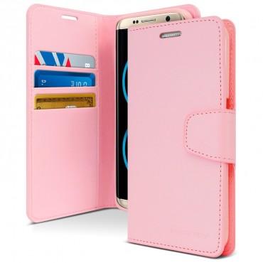 Elegantní pouzdro Goospery Sonata pro Samsung Galaxy S8 Plus - růžové