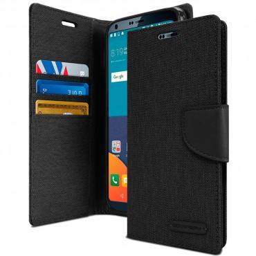 Pouzdro Goospery Canvas Diary pro LG G6 - černé