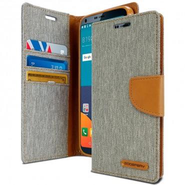 Pouzdro Goospery Canvas Diary pro LG G6 - šedé