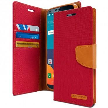 Pouzdro Goospery Canvas Diary pro LG G6 - červené