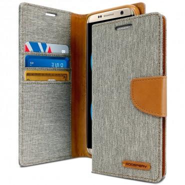 Kryt Goospery Canvas Diary pro Samsung Galaxy S8 Plus - šedý