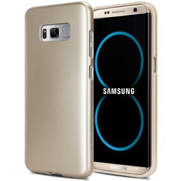 Kryt TPU gel Goospery iJelly Case pro Samsung Galaxy S8 Plus - zlatý