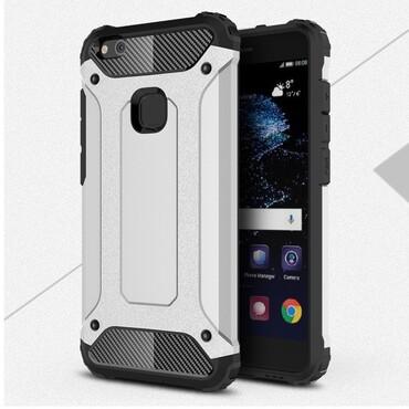 """Robustní obal """"Rock"""" pro Huawei P10 Lite - stříbrný"""