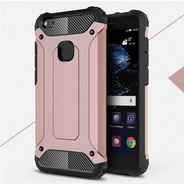 """Robustní obal """"Rock"""" pro Huawei P10 Lite - růžový"""