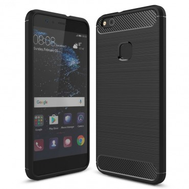 "Kryt TPU gel ""Brushed Carbon"" pro Huawei P10 Lite - černý"