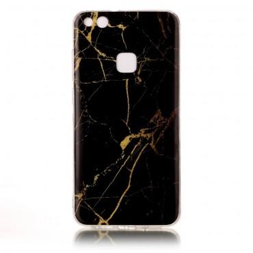 """Módní kryt """"Marble"""" pro Huawei P10 Lite - černé"""