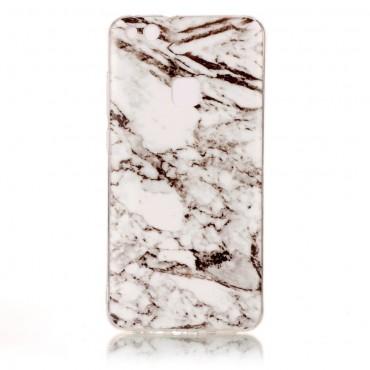 """Módní obal """"Marble"""" pro Huawei P10 Lite - bílý"""