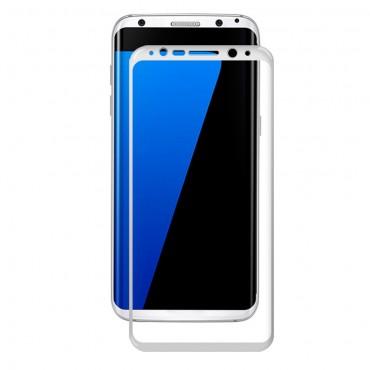 Celotělové tvrzené sklo Amorus pro Samsung Galaxy S8 - bílé