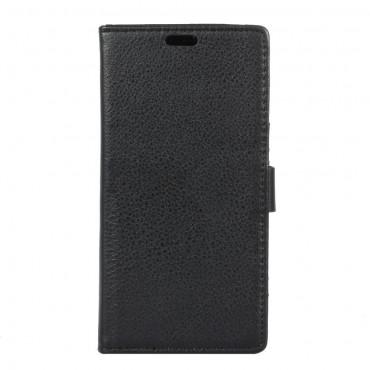 """Elegantní kryt z umělé kůže """"Litchi"""" pro Sony Xperia XA1 - černý"""