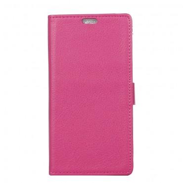 """Elegantní pouzdro """"Litchi"""" pro Sony Xperia XA1 z umělé kůže - růžové"""